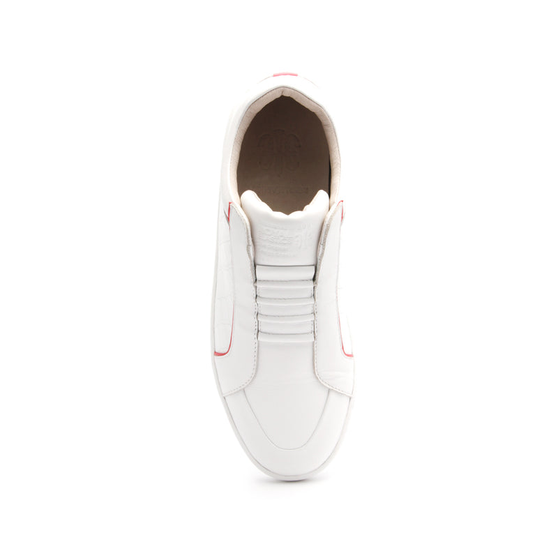Women's Duke White Pink Leather Sneakers 95291-001 - ROYAL ELASTICS
