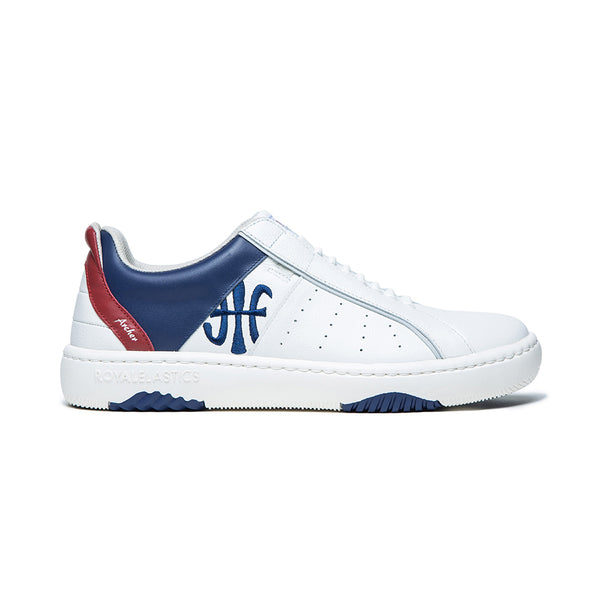 Men's Icon 2.0X White Blue Red Leather Sneakers 06312-015