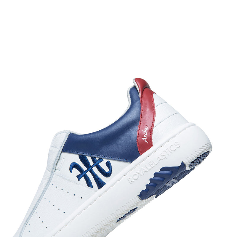 Women's Icon 2.0X White Blue Red Leather Sneakers 96312-015