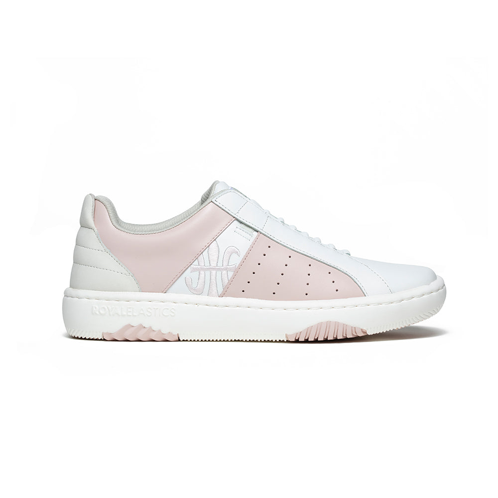 Women's Icon Archer White Pink Leather Sneakers 96394-011 - ROYAL ELASTICS
