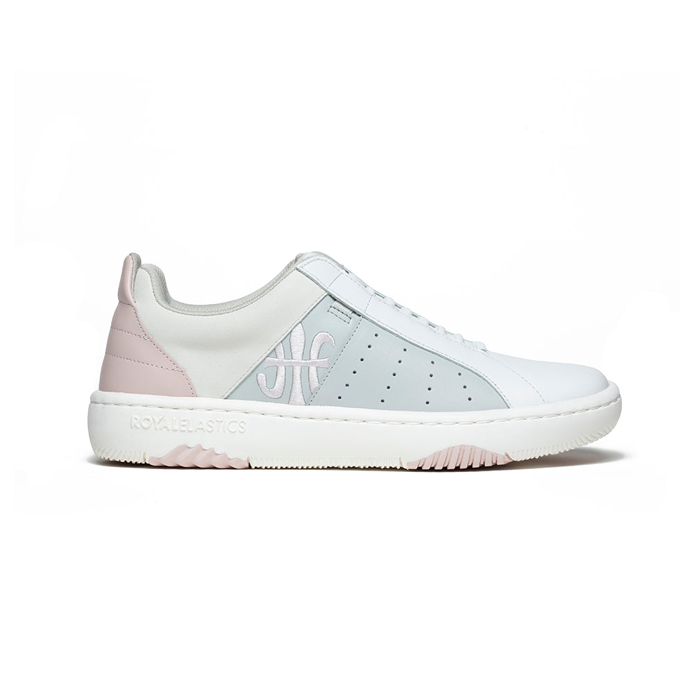 Women's Icon Archer White Pink Blue Leather Sneakers 96394-081