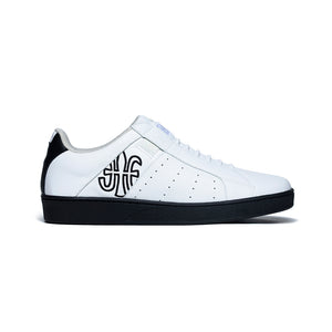 Men's Icon Genesis White Black Leather Sneakers 01901-009 - ROYAL ELASTICS