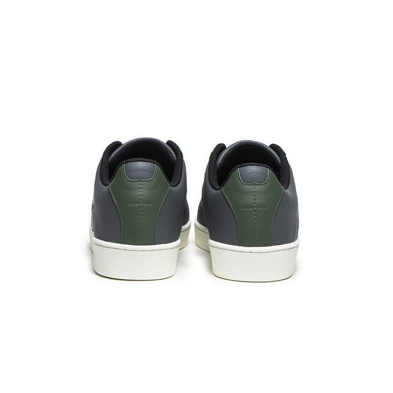 Men's Icon Gray Green Leather Sneakers 01903-884