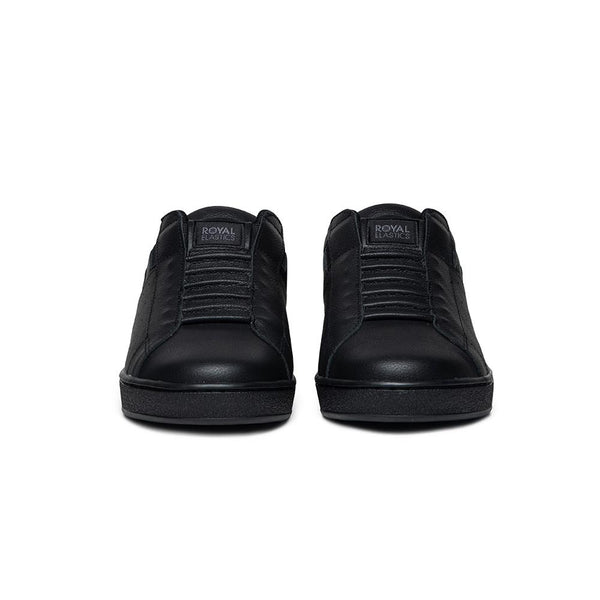 Men's Icon Black Logo Leather Sneakers 01912-999