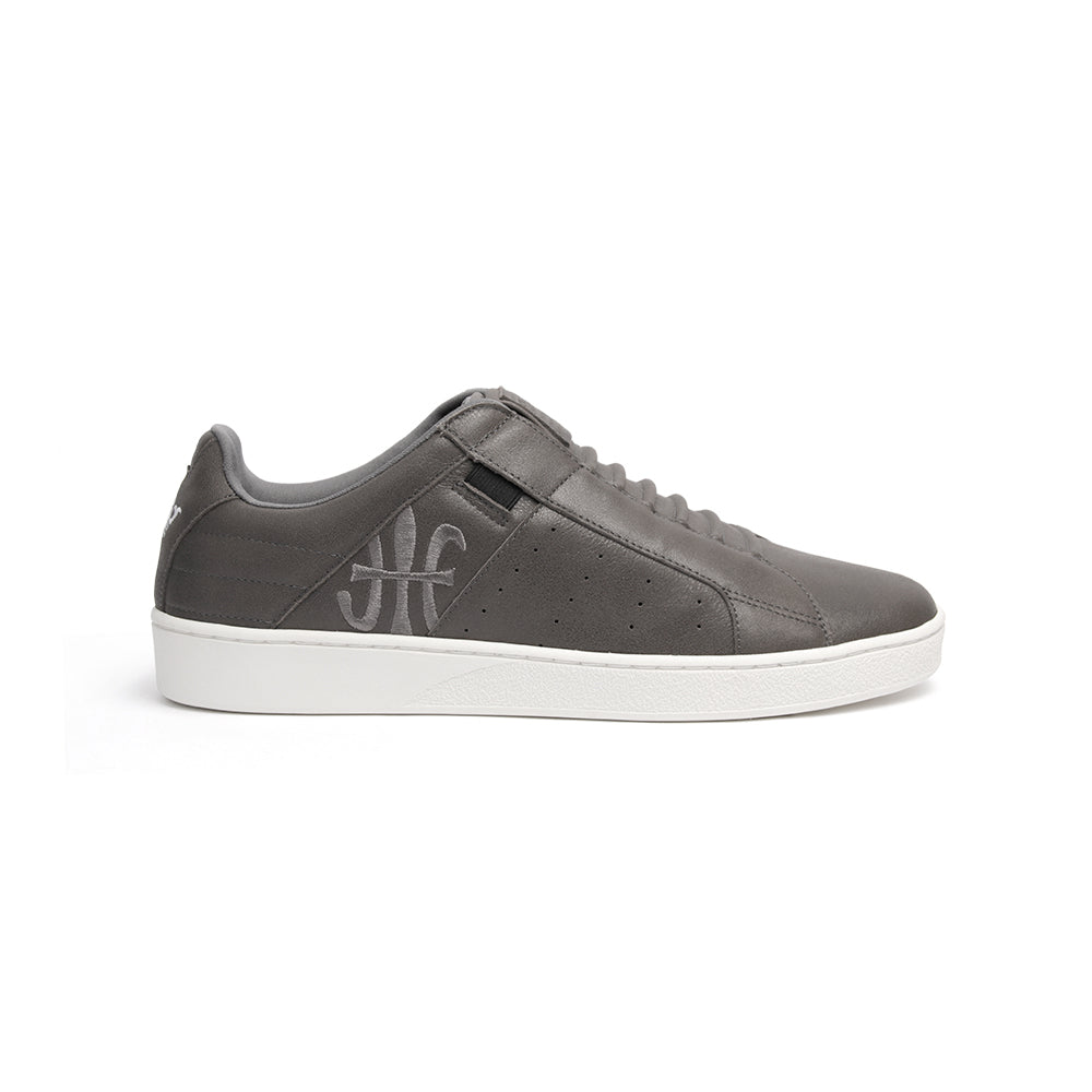 Men's Icon Classic Deep Gray Leather Sneakers 02092-888