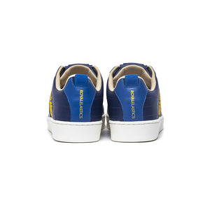 Men's Icon Manhood Blue White Yellow Leather Sneakers 02094-553
