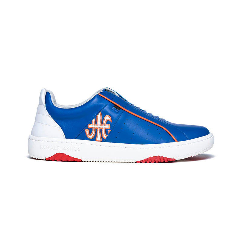 Men's Icon Archer Blue Orange Leather Sneakers 06394-501