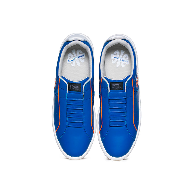 Men's Icon Archer Blue Orange Leather Sneakers 06394-501 - ROYAL ELASTICS