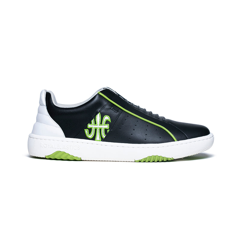 Men's Icon Archer Black Green Leather Sneakers 06394-904