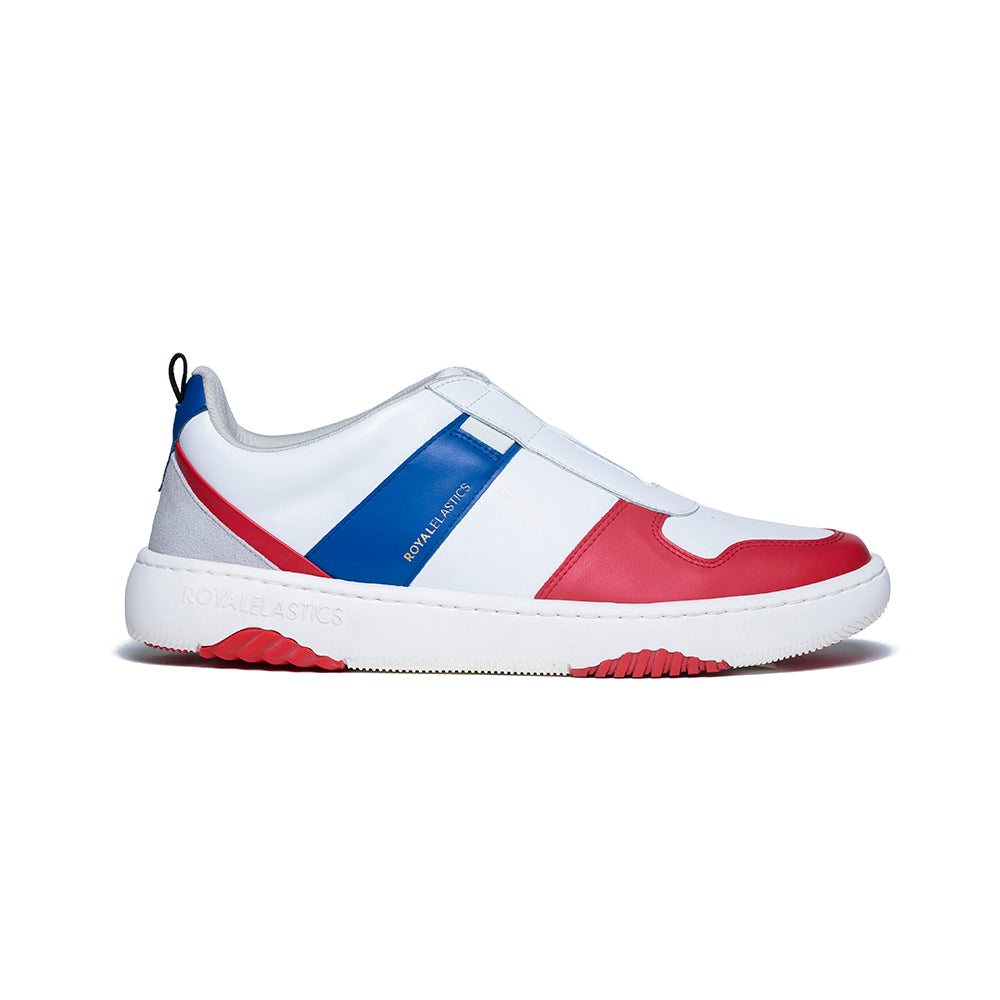 Men's Rider White Red Blue Leather Sneakers 06794-015