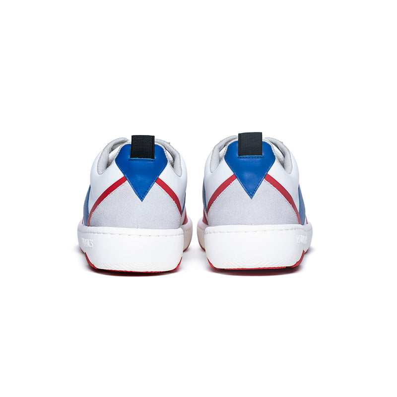 Men's Rider White Red Blue Leather Sneakers 06794-015 - ROYAL ELASTICS