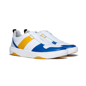 Men's Rider White Blue Yellow Leather Sneakers 06794-035 - ROYAL ELASTICS