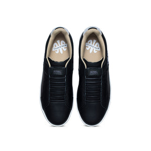 Women's Icon Genesis Black  White Leather Sneakers 91901-990 - ROYAL ELASTICS