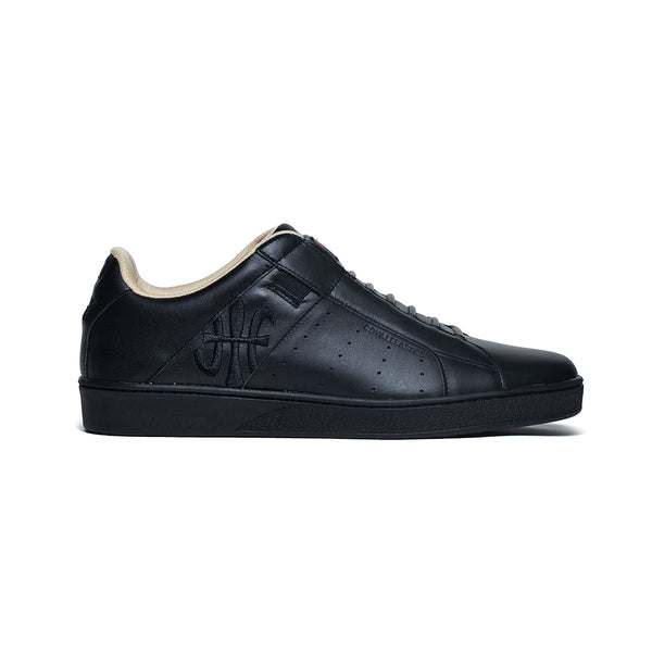 Men's Icon Genesis Black Leather Sneakers 01901-998 - ROYAL ELASTICS
