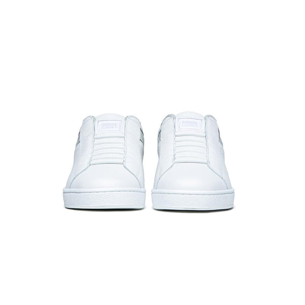 Women's Icon White Blue Logo Leather Sneakers 91912-085
