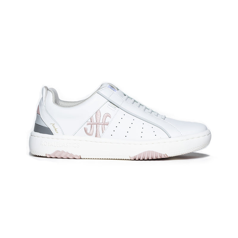 Women's Icon Archer Pink Logo Leather Sneakers 96301-018