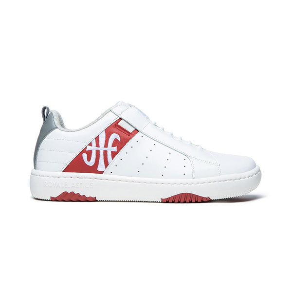 Women's Icon 2.0 White Red Logo Leather Sneakers 96512-018