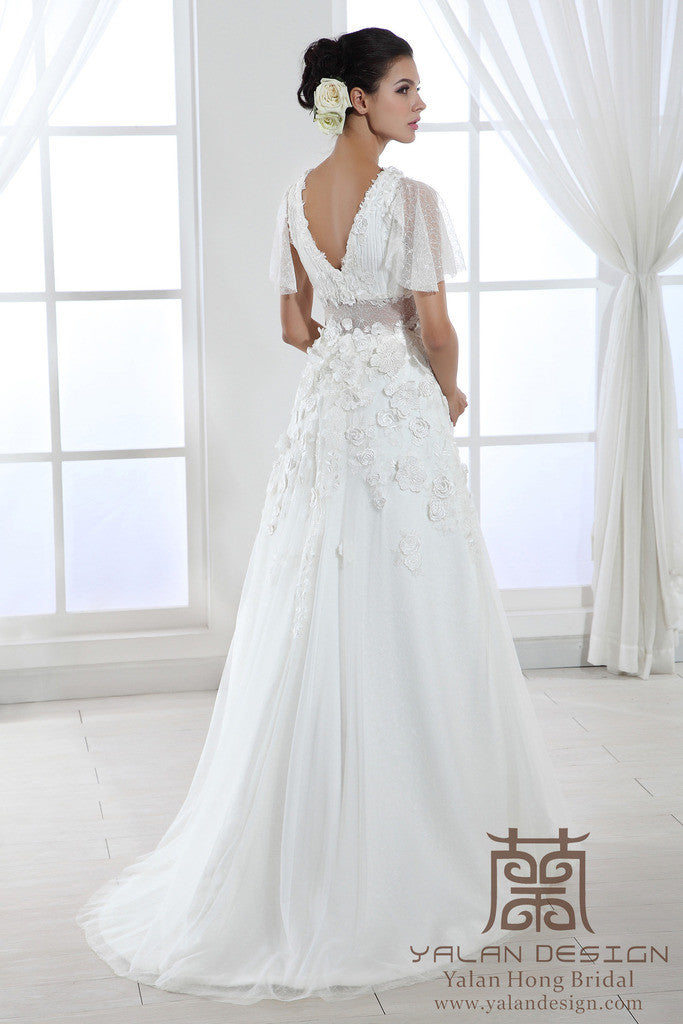 Custom Made Bridal Gowns,Design Your Own Wedding Dresses - Yalan ...