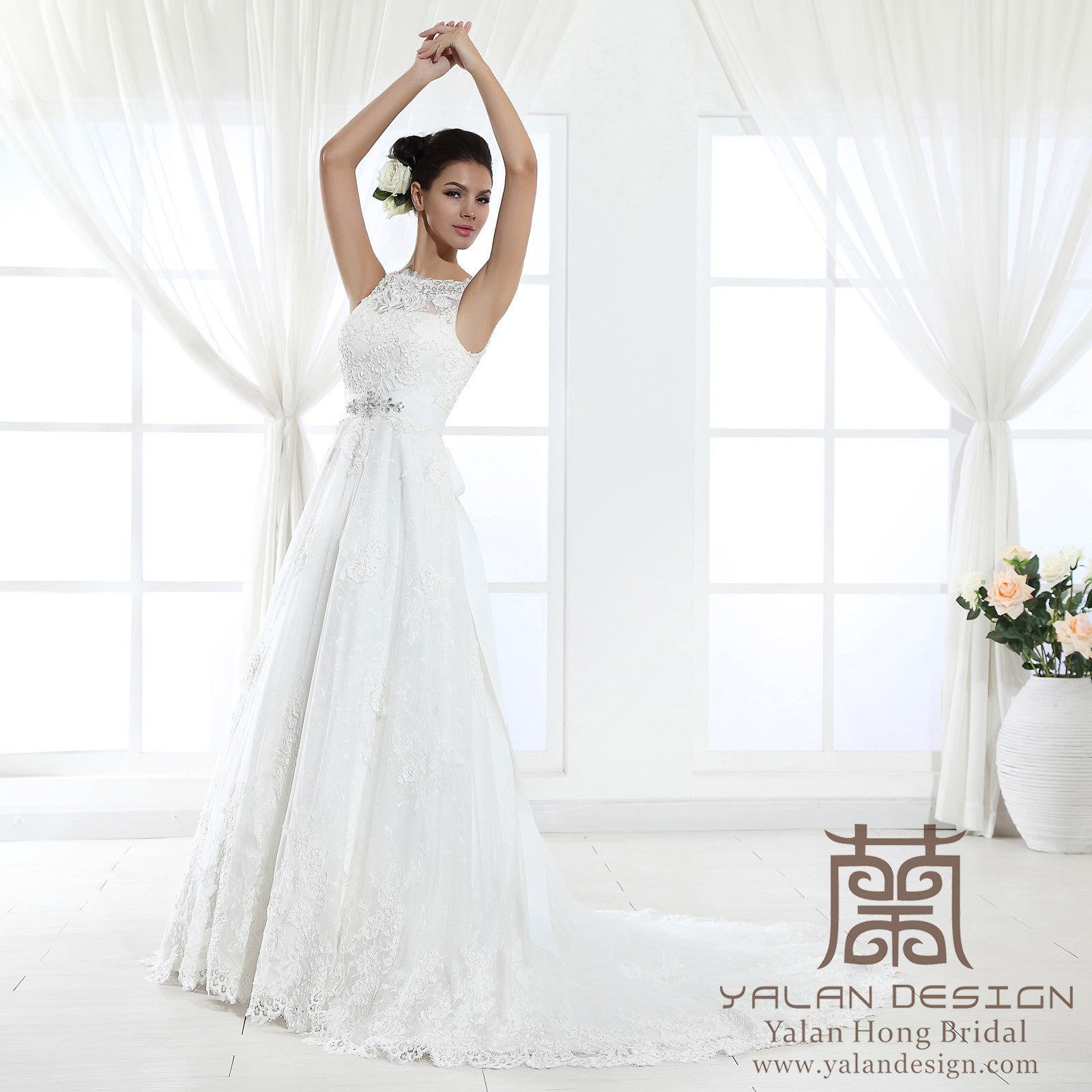 Cap sleeve Lace Over Satin Wedding Dress Custom Made Bridal Gown ...