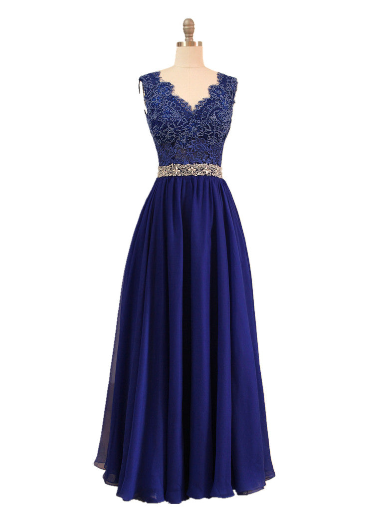 Navy blue evening gown lace bridesmaid dress full length yalan beautiful navy blue eveing gown made to order wedding dresses yalandesign navy blue evening ombrellifo Image collections