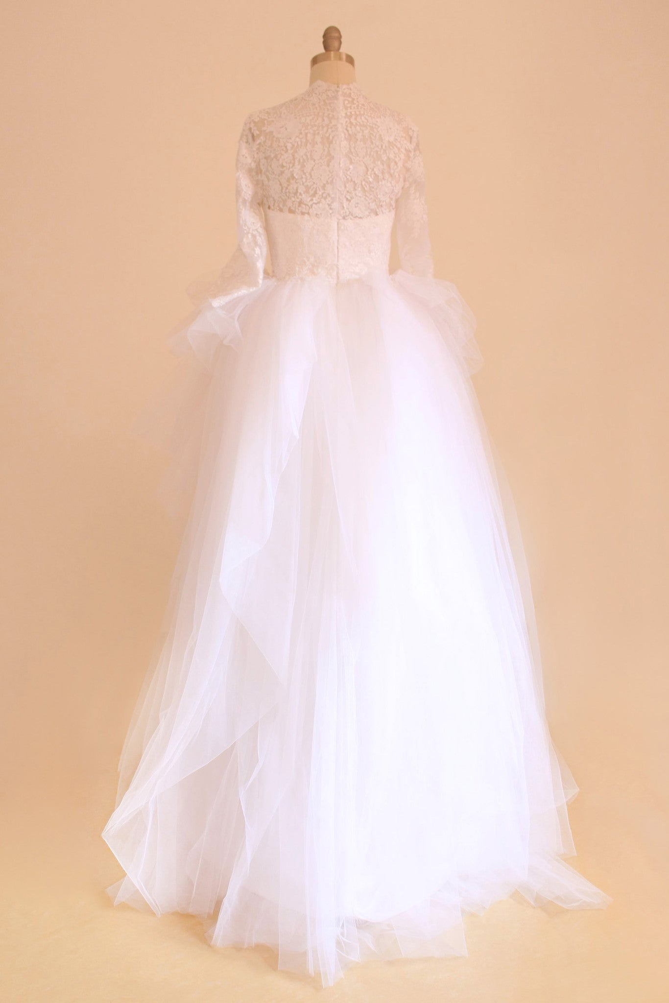 Sheer Lace Ball Gown Bridal Dress Maternity - Yalan Wedding Couture
