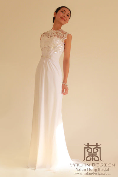 Applique Wedding Gown Hand Made