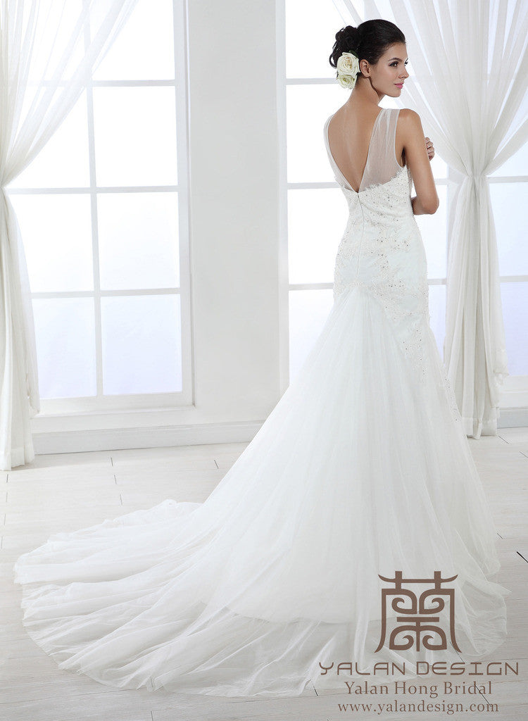 Cap Sleeves Lace Over Satin Wedding Dress Fit And Flare