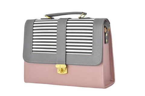 Envelope Style Retro Inspired Satchel Bag in Pink