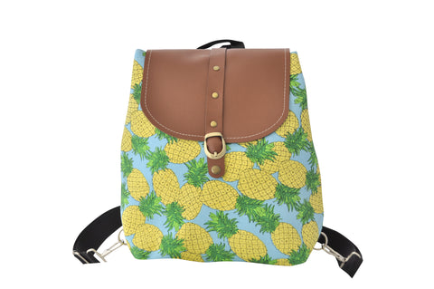 Canvas Drawstring Rucksack Backpack - Pineapples