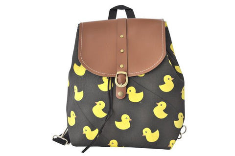 Canvas Drawstring Rucksack Backpack - Rubber Ducky