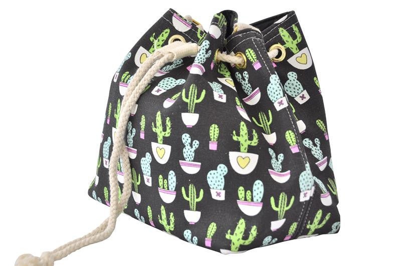 Drawstring Bucket Handbag - Cactus