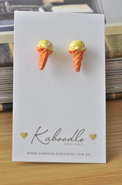Miniature Food Dessert Ice Cream Stud Earrings