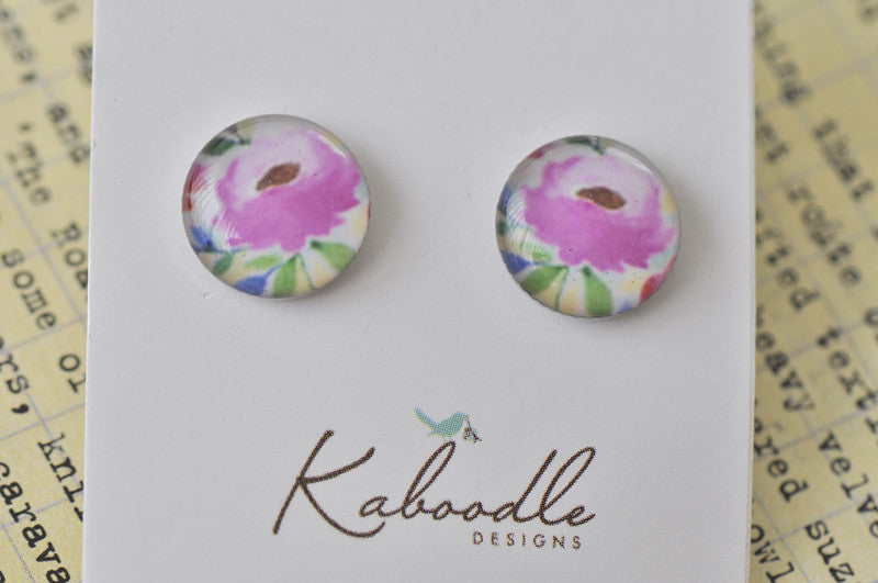 Handmade Artwork Stud Earrings - ER356