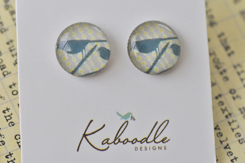 Handmade Artwork Stud Earrings - ER365