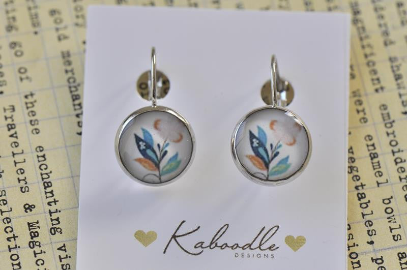 Handmade Round French Clip Dangle Earrings - CDE156