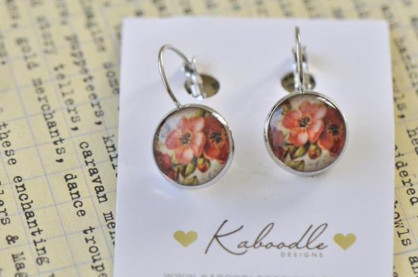 Handmade Round French Clip Dangle Earrings - CDE161