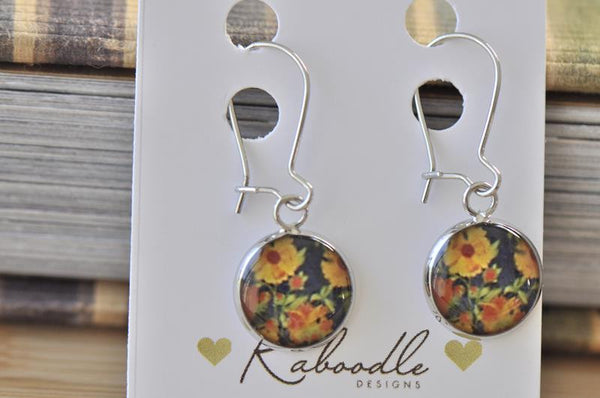 Handmade Round French Hook Drop Earrings - RFE016
