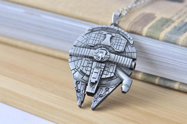Star Wars Inspired Star Wars Millennium Falcon Spaceship Large Necklace
