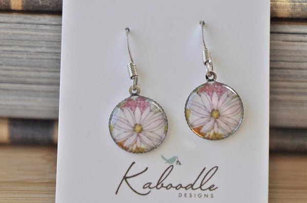 Handmade Round Hook Dangle Earrings - RHE065