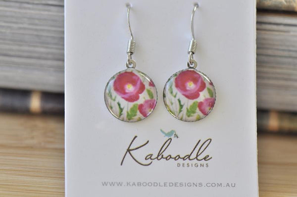 Handmade Round Hook Dangle Earrings - RHE073