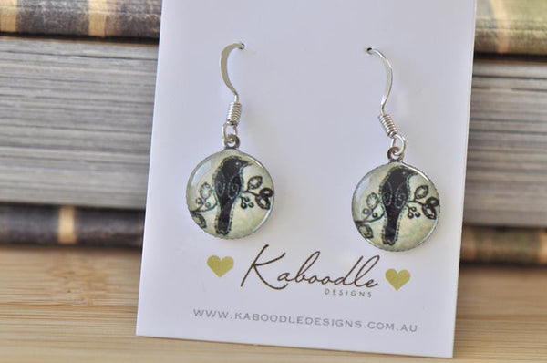 Handmade Round Hook Dangle Earrings - RHE089