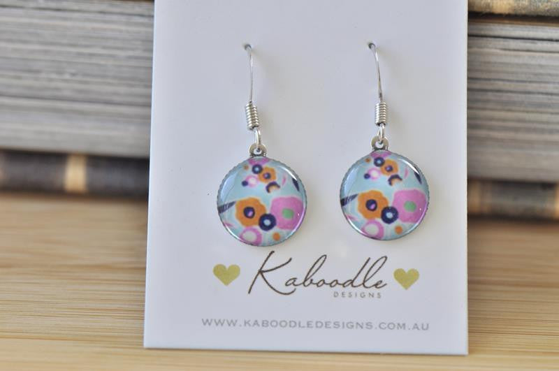 Handmade Round Hook Dangle Earrings - RHE091