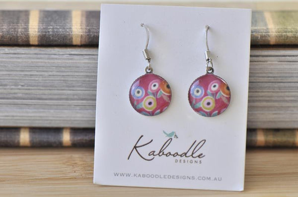 Handmade Round Hook Dangle Earrings - RHE101