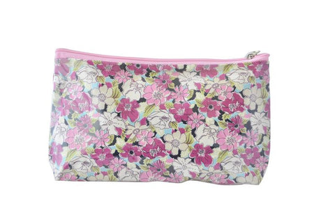 Plastic Covered Cosmetic Bags Pencil Case - Flowers 1