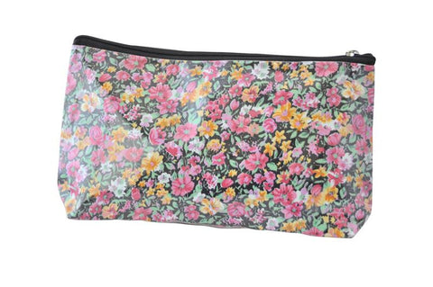 Plastic Covered Cosmetic Bags Pencil Case - Flowers 3