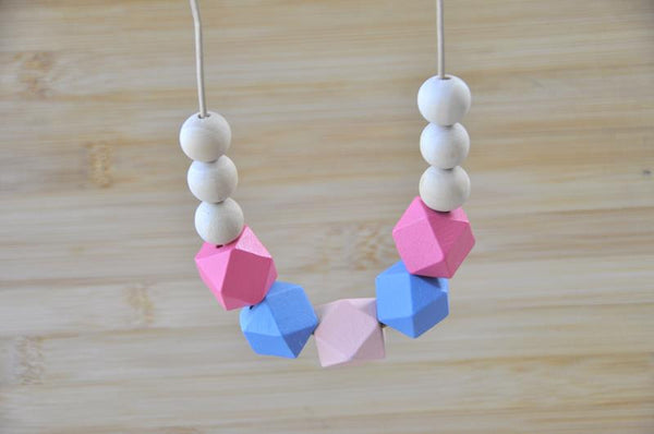Wooden Geometric Adjustable Necklace - WD001