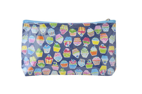Plastic Covered Cosmetic Bags Pencil Case - Cupcakes