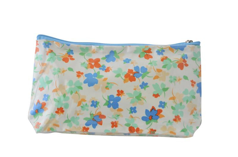 Plastic Covered Cosmetic Bags Pencil Case - Flowers 4