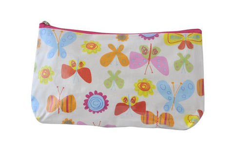 Plastic Covered Cosmetic Bags Pencil Case -  Butterflies