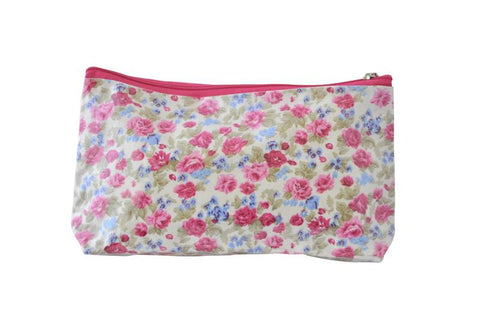 Plastic Covered Cosmetic Bags Pencil Case -  Roses
